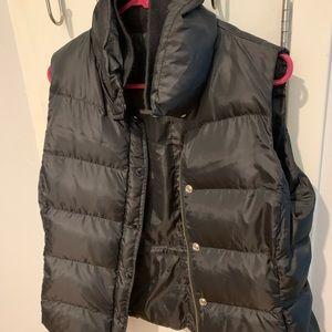 JCrew Black Puffer Vest